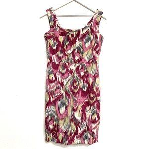 Antonio Melani Printed Square Neck Sheath Dress